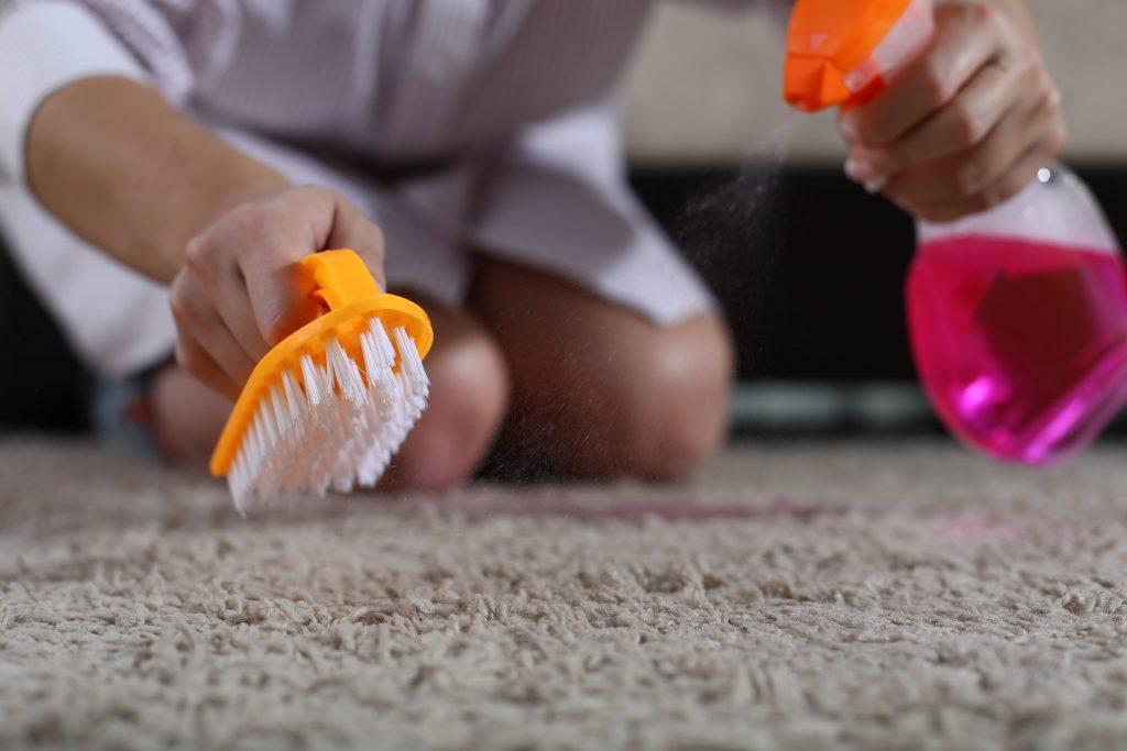 usuwanie plam z dywanów